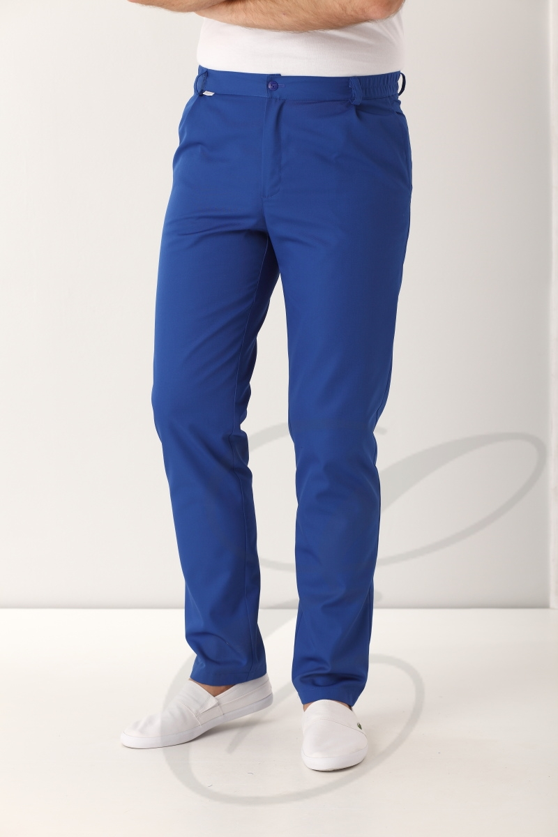 Spodnie medyczne męskie 505 chabrowe